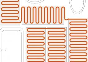 Схема укладки кабельного теплого пола в ванной