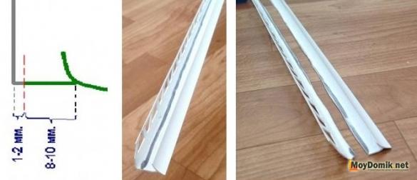 Как вырезать профиль внутренний угол для заделки щели над подоконником