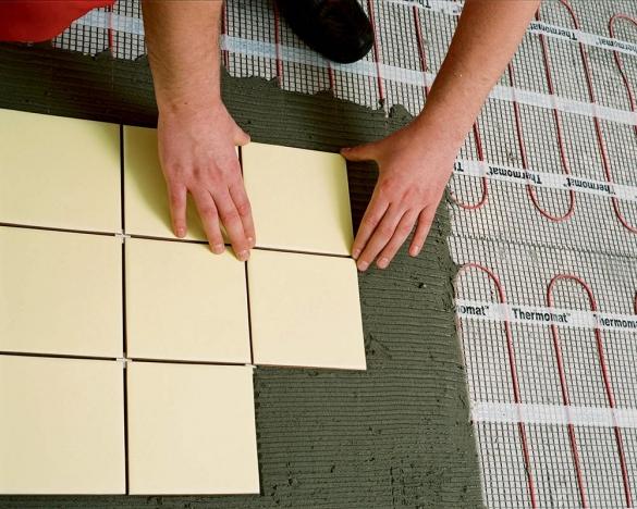 Укладка плитки на теплый электрический пол