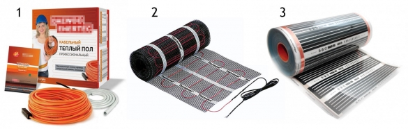 Разновидности электрического теплого пола под плитку