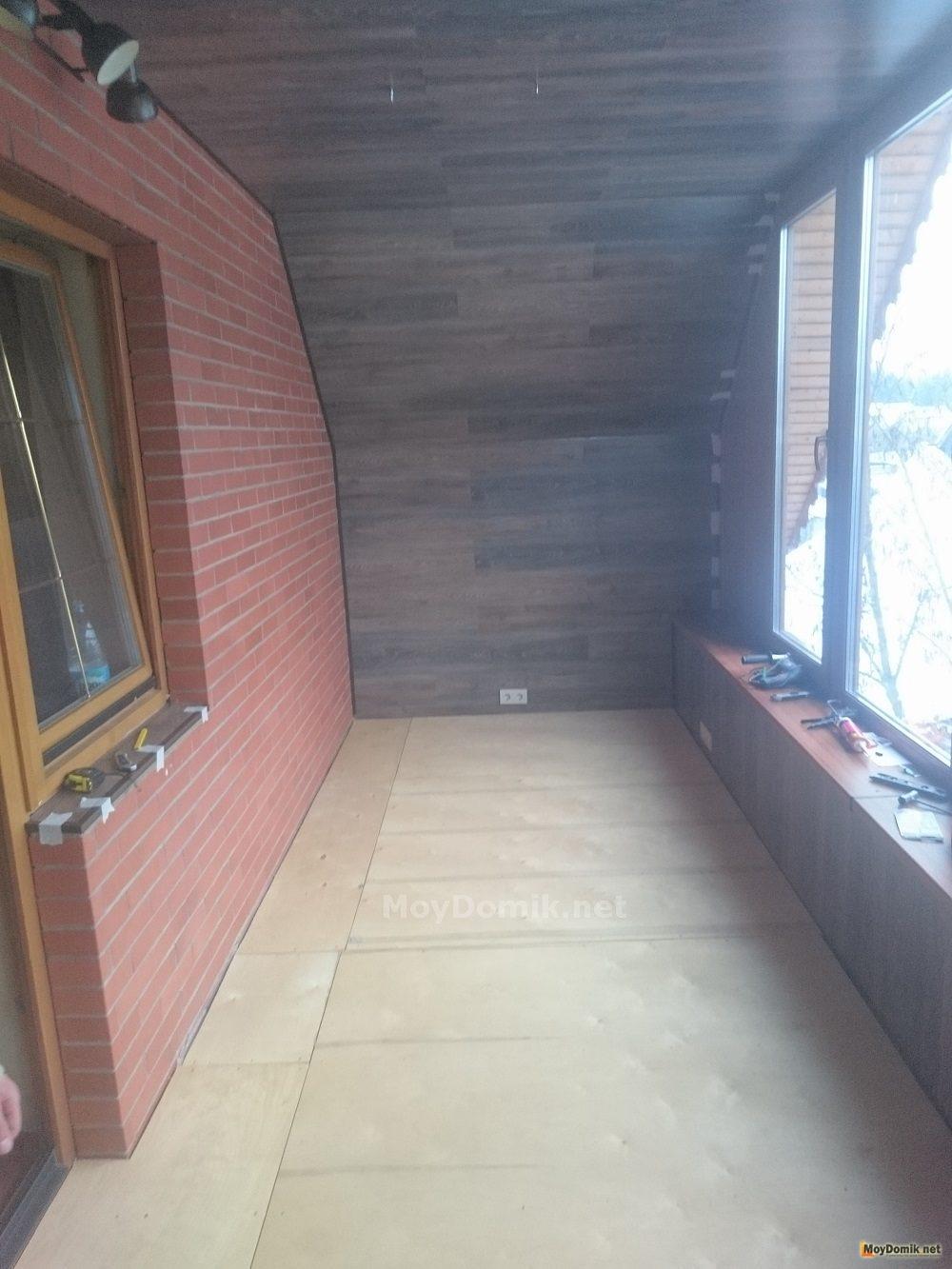Ламинат на балконе своими руками 467
