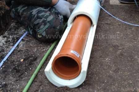 Как утеплить трубу канализацию в частном доме своими руками 689