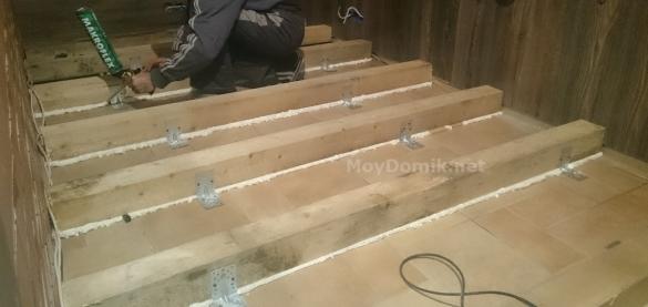 Утепление пола на балконе и лоджии по лагам