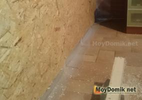 Утепление стен на лоджии - обшивка плитой ОСБ