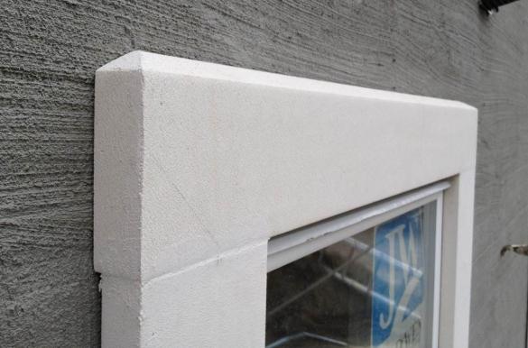 Утепление фасада пенопластом - отделка оконных откосов
