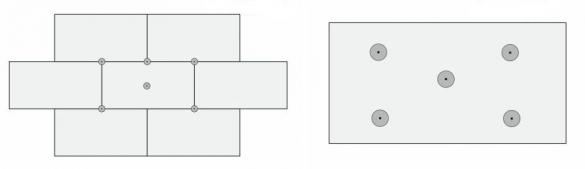 Схема мест крепления пенопласта дюбелями