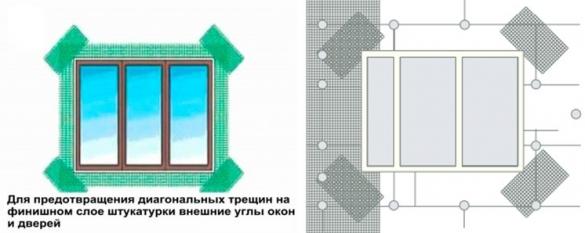 Армирование пенопласта вокруг окон и дверей