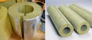 Базальтовые цилиндры для утепления водопроводных труб