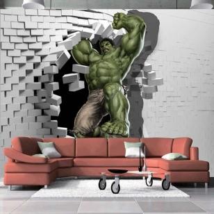 3D фото обои на стену - Халк