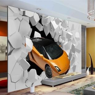 3D фото обои на стену - спортивный автомобиль