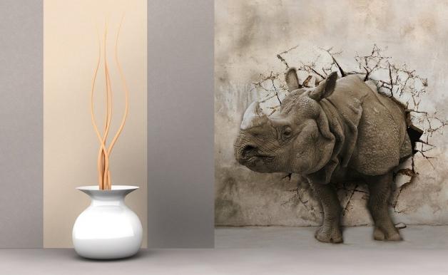 3д фотообои для стен - зоо-креатив