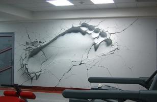 Креативные 3д фотообои для стен - отпечаток стопы