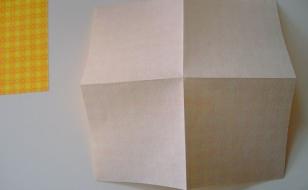 Подготовка бумаги для звезды