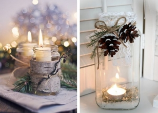 Новогодние свечи для украшения подоконника