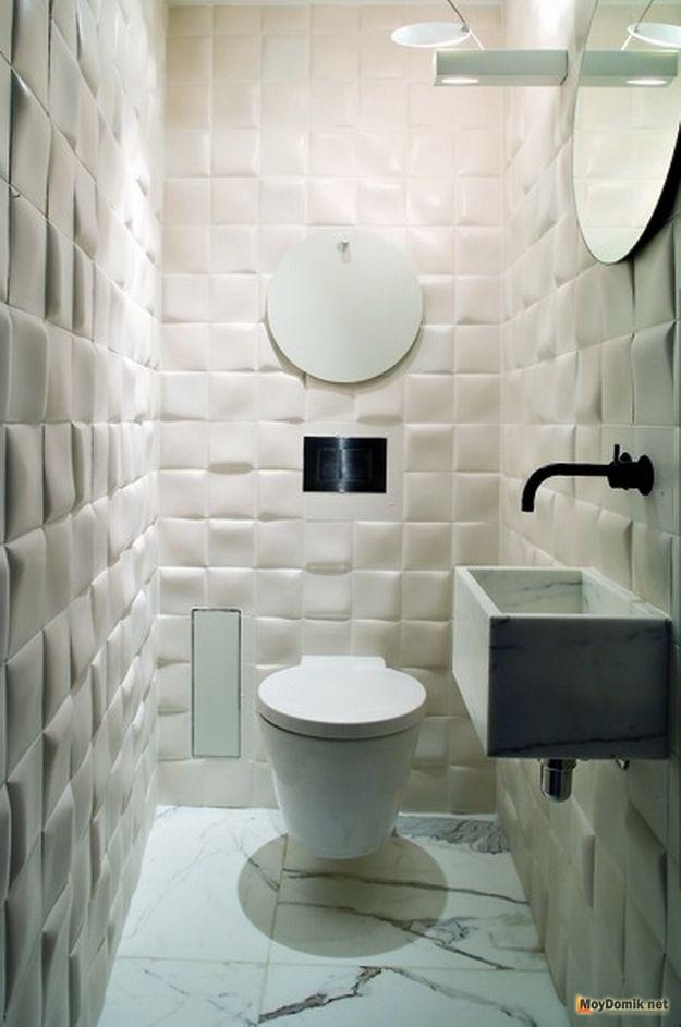 Плитка в маленьком туалете фото дизайн