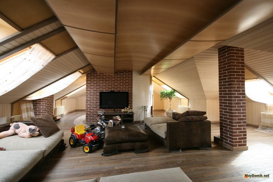 Дизайн мансардный этаж