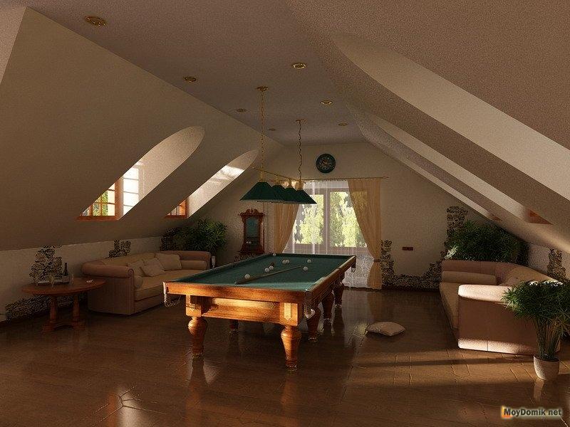Сказочная ванная комната на мансардном этаже фото 614