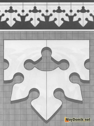 Шаблон наличников на окна - 3