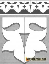 Шаблон наличников на окна - 16