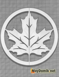 Эскиз наличников на окна - лист кленовый