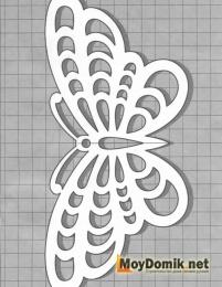 Эскиз наличников на окна - бабочка