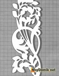 Эскиз наличников на окна - цветочки