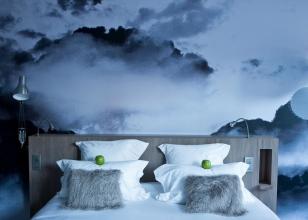 Панорамные 3Д фотообои - ночное небо