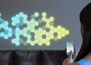 Эффекты светодиодных-обоев для стен
