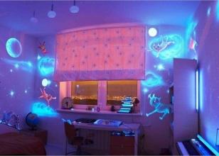 Флуоресцентные обои для стен с объемным изображением