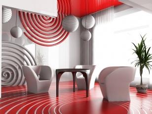 Фотообои 3Д в интерьере гостиной
