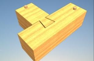 Угловое соединение бруса «ласточкин хвост» - схема