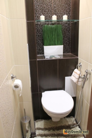 Дизайн интерьера ванной и туалета в едином стиле