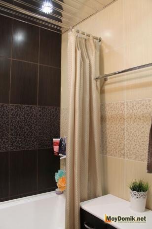 Ванна и туалет раздельно в одном стиле