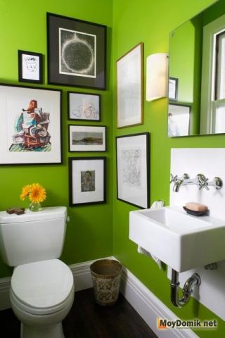 Интерьер туалета с картинками