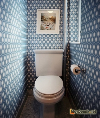 Интерьер маленького туалета по фен-шуй