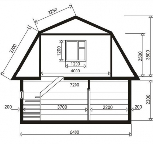 Чертежи домов с мансардой - схема 3