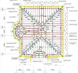 Чертежи домов с мансардой - схема 2