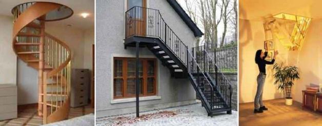 Лестницы на мансардный этаж