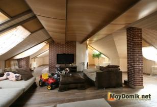 Жилое пространство мансардного этажа - элементы оформления