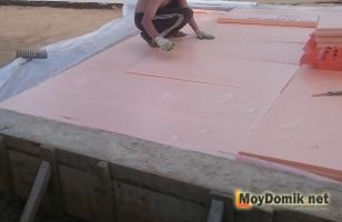 Утепление пола подвала пеноплексом (на этапе строительства дома)