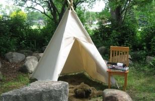 Палатка из ткани для детей