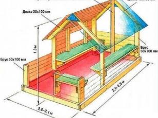 Схема детского домика из дерева