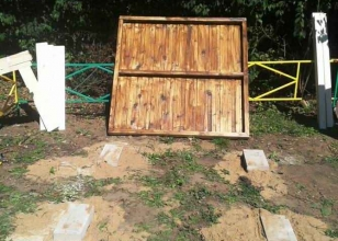 Фундамент для детского домика из дерева