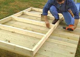 Строительство пола для детского домика