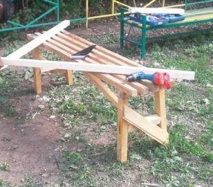 Устройство крыши детского домика - стропила