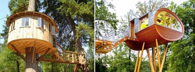 Оригинальные детские домики на дереве