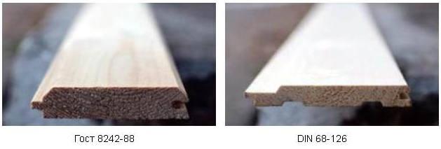 Стандарты деревянной вагонки – ГОСТ и DIN