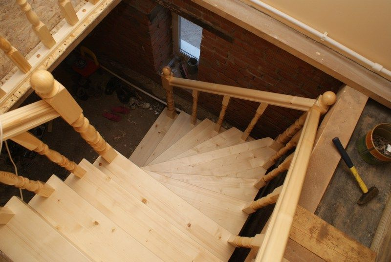 Деревянная лестница на 2 этаж своими руками фото 304