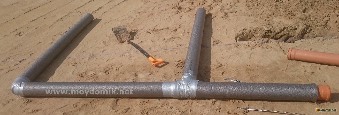 Как утеплить трубу канализацию в частном доме своими руками 189