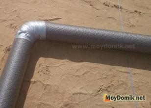 Утепление канализационных труб наружной канализации